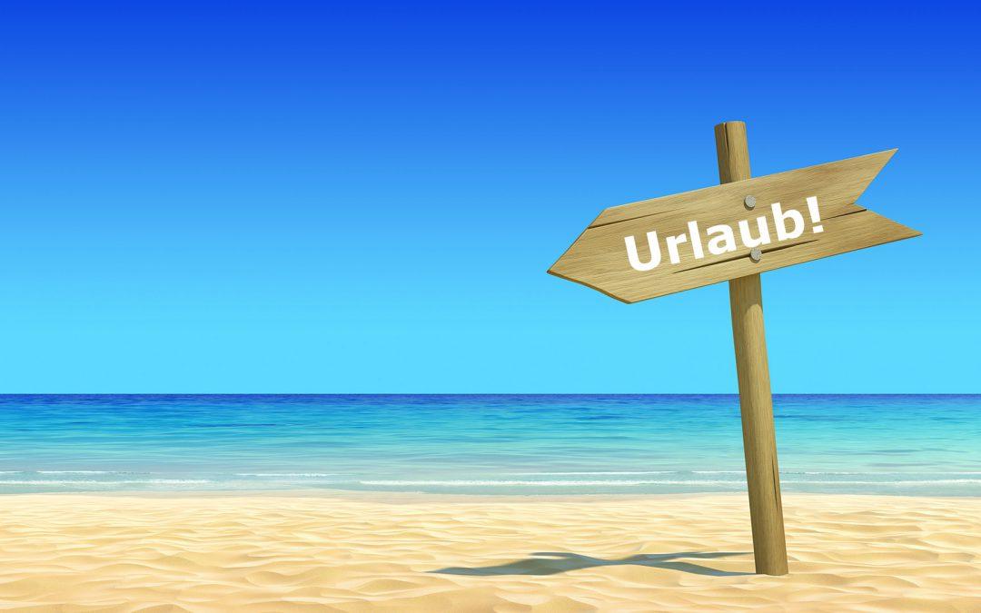 Urlaub vom 01.01. bis 16.01.2020